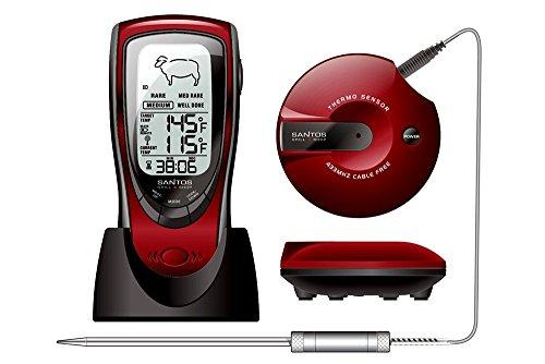 BBQ Grill-Thermometer, Funk-Bratenthermometer, mehrfacher Testsieger Heft Der Griller 1/2015 für BBQ, Ofen und Grills.
