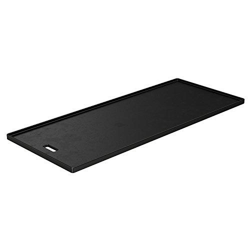 RÖSLE Grillplatte VIDERO G3/G4, Hochwertige Grillplatte aus Gusseisen für Fleisch und kleine Grillstücke, Grillbranding, Platte beidseitig verwendbar, 45 x 19,5 cm, bis Modelljahr 2020