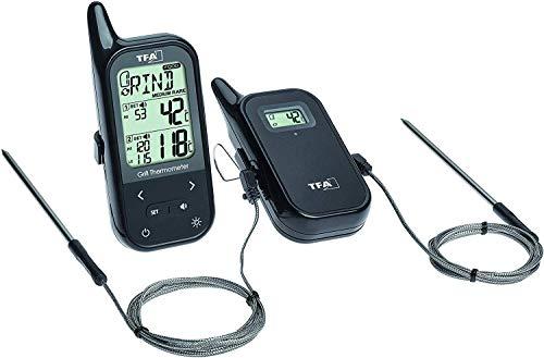 TFA Dostmann Küchen-Chef Digitales Bratenthermometer/Grillthermometer Funk, 2 Einstechfühler zur Messung der Ofen- und Kerntemperatur