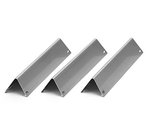 Premium Aromaschienen aus V2A Edelstahl, rostfrei, lasergeschnitten, Flavorizer Bars passend für Weber Spirit 210, 220 ab Modelljahr 2013 (3 Stück)