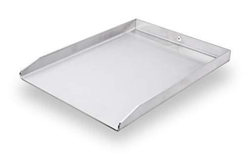 mocisa Universal Grillplatte | Plancha | BBQ-Wanne | Grillkorb | Made in Germany | Edelstahl | Massiv | hochwertig verarbeitet | 40cmx30cm Universal