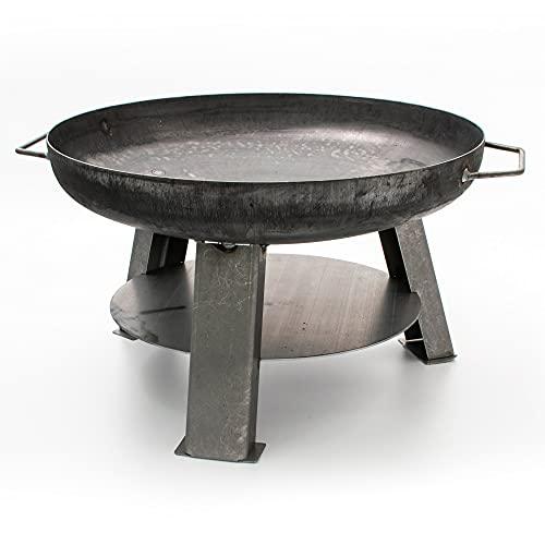 Feuerschale Phoenix aus Stahl - 55cm Durchmesser, TÜV geprüft, Feuerstelle mit Griffen zum Grillen im Garten - Feuerkorb 55cm