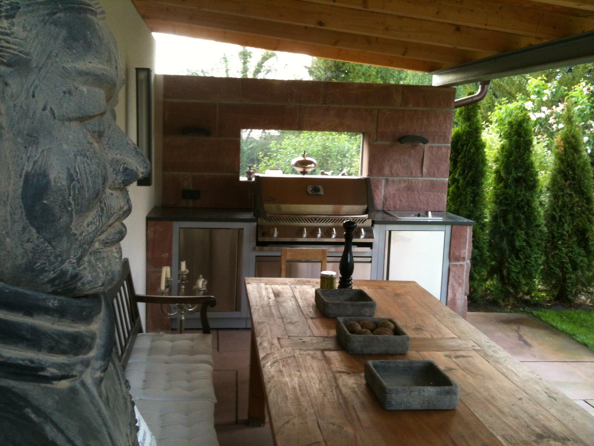 gartenküche mit dem oasis system von napoleon - grill news