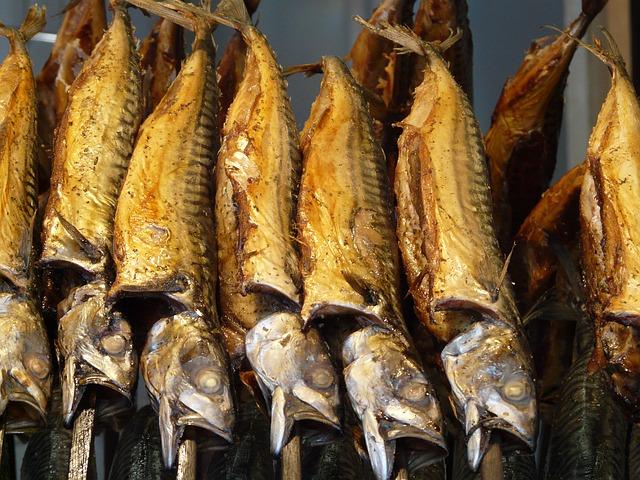 gerächerter Fisch