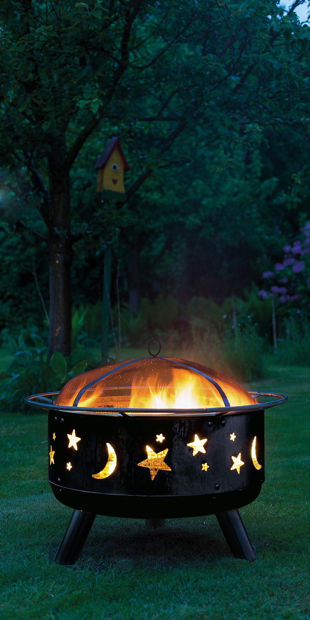 pressebild landmann feuerkorb stars and moon 11811 der. Black Bedroom Furniture Sets. Home Design Ideas