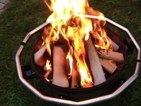 abnehmbare feuerschale zum nachgrillen