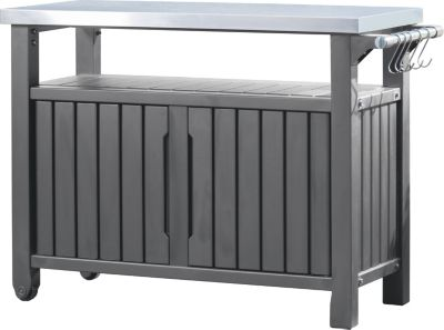 keter 6131 grill beistelltisch 2 t rig grillen f r anf nger und profis. Black Bedroom Furniture Sets. Home Design Ideas